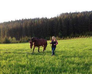 Katrin und Pferd
