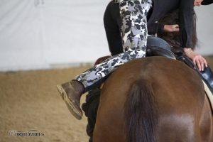 Pferdeprofi Sandra Schneider im Sattel