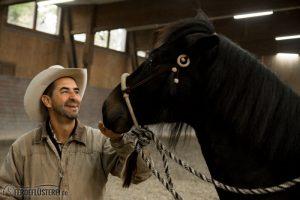 Alfonso Aguilar mit Pferd