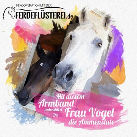 Charity Armband Pferde Hilfsprojekt - Frau Vogel und Weltfreund