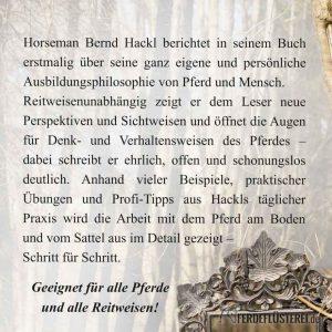 Buch - Bernd Hackl Reiten - Rückseite PV-BURP-X/2