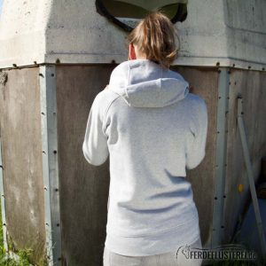 Hoodie Heather Grey HORSE - NN-HSSH-GGS - rücken