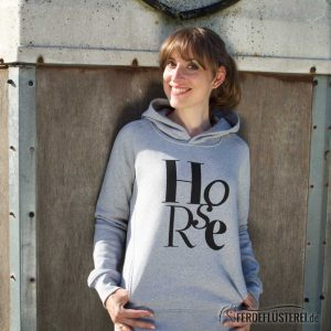 Hoodie Heather Grey HORSE - NN-HSSH-GGS - rücken Heather Grey HORSE - NN-HSSH-GGS - front