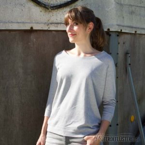 Sweater Heather Grey Team my Horse - NN-SATT-GWS - seitlich