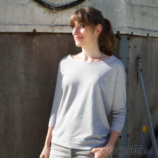 Sweater Heather Grey Team my Horse - NN-SATT-GWS - seitlich