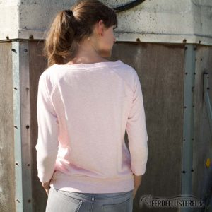 Sweater Heather Pink - No 5 Horse Paris - NN-SATN5-PWS - rücken