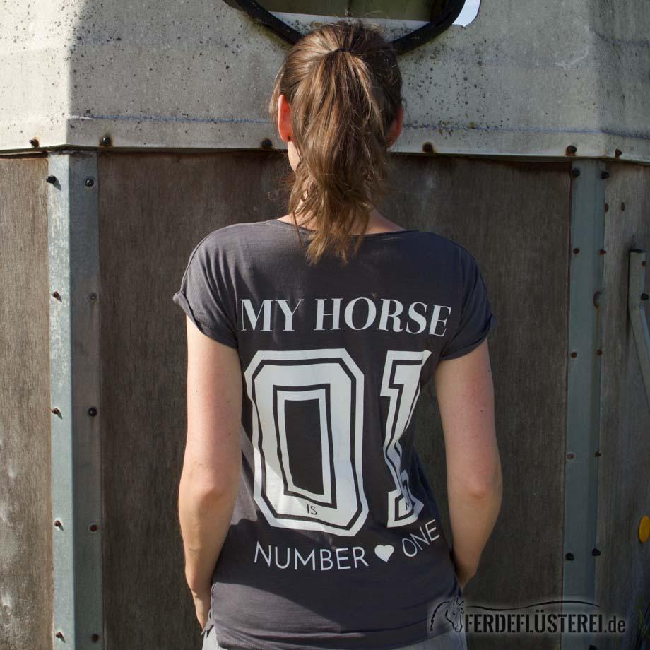 Shirt Team My Horse - anthracite - NN-SIST-AWXS - rücken