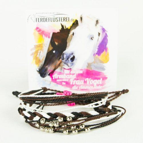 Charity Projekt Frau Vogel - Weltfreund Pferdeflüsterei Armbänder