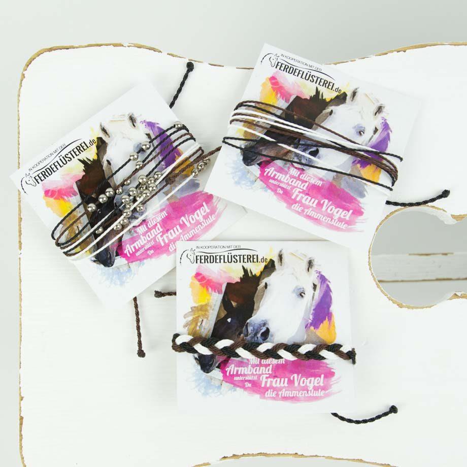 Pferdefluesterei Charity Armband
