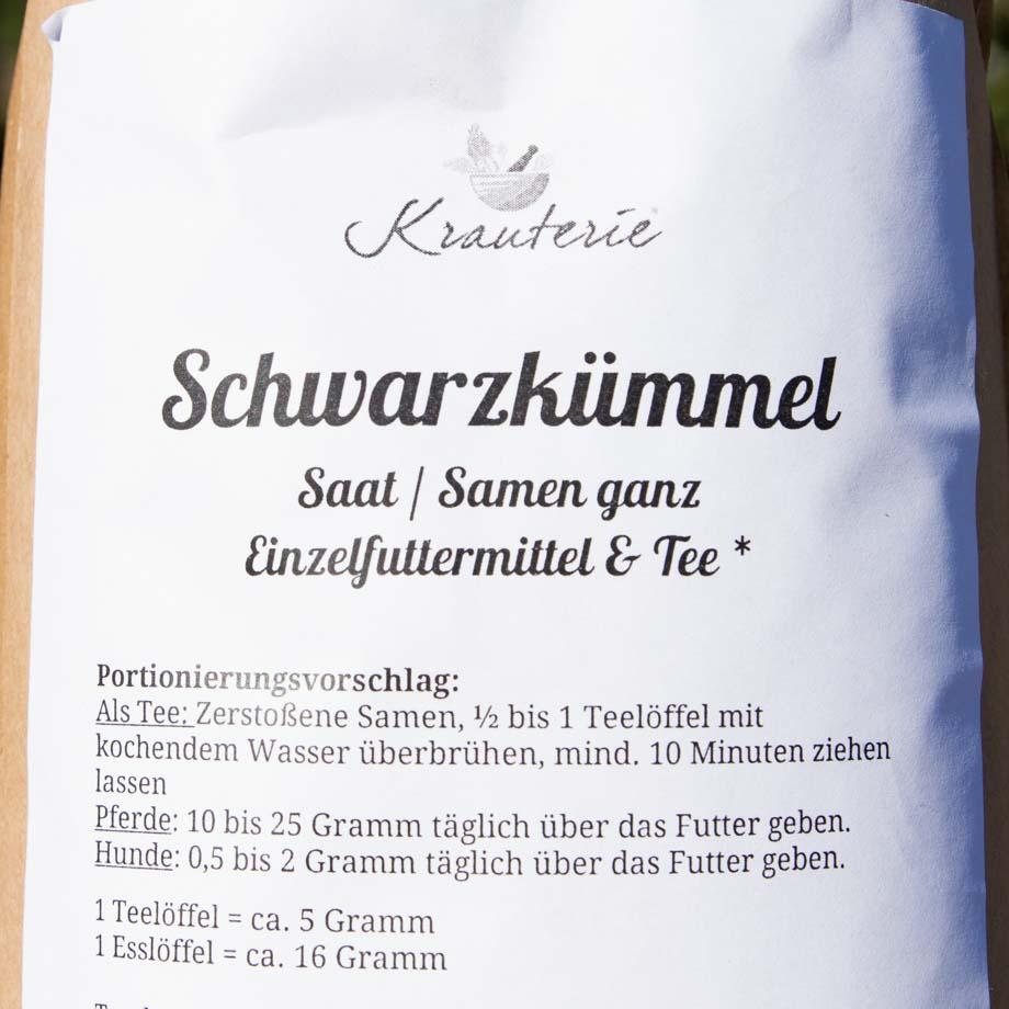 Schwarzkuemmelsamen KR-SKS-1 Label