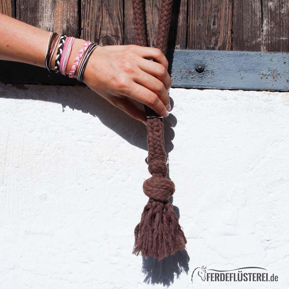 BA-HRBW-XXX - Halsring von Brockamp - braun mit Hand
