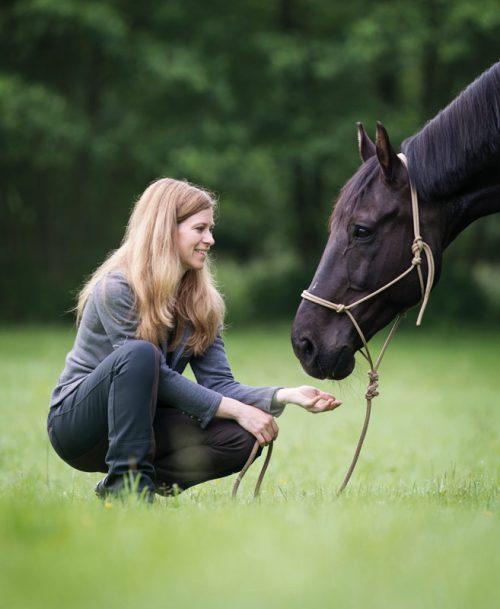 Nadja Müller und Ihr Pferd
