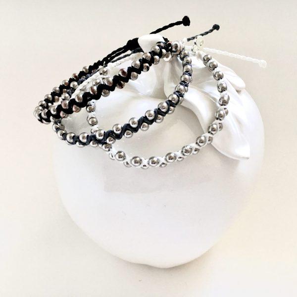 weltfreund Armbänder schwarz weiss grau