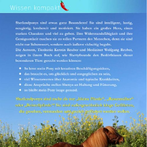 Shetlandponys - Buch Rückseite