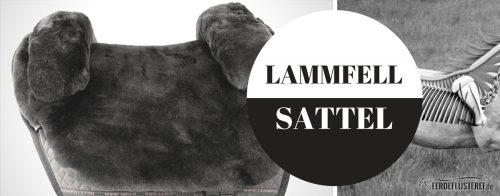 SLIDER-Lammfell Sattel