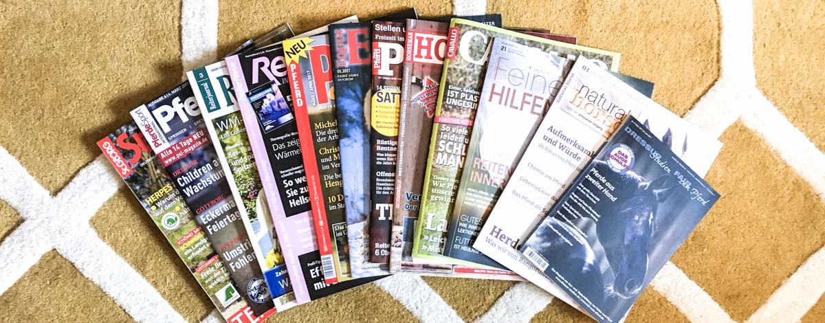 Pferde Zeitschriften Magazine Slider
