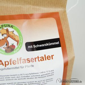 Apuna Apfelfasertaler Schwarzkümmel nah