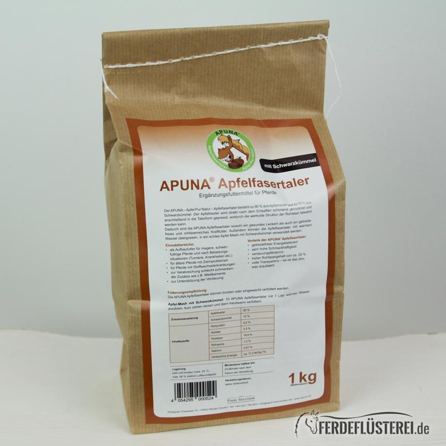 Apuna Apfelfasertaler Schwarzkümmel Total