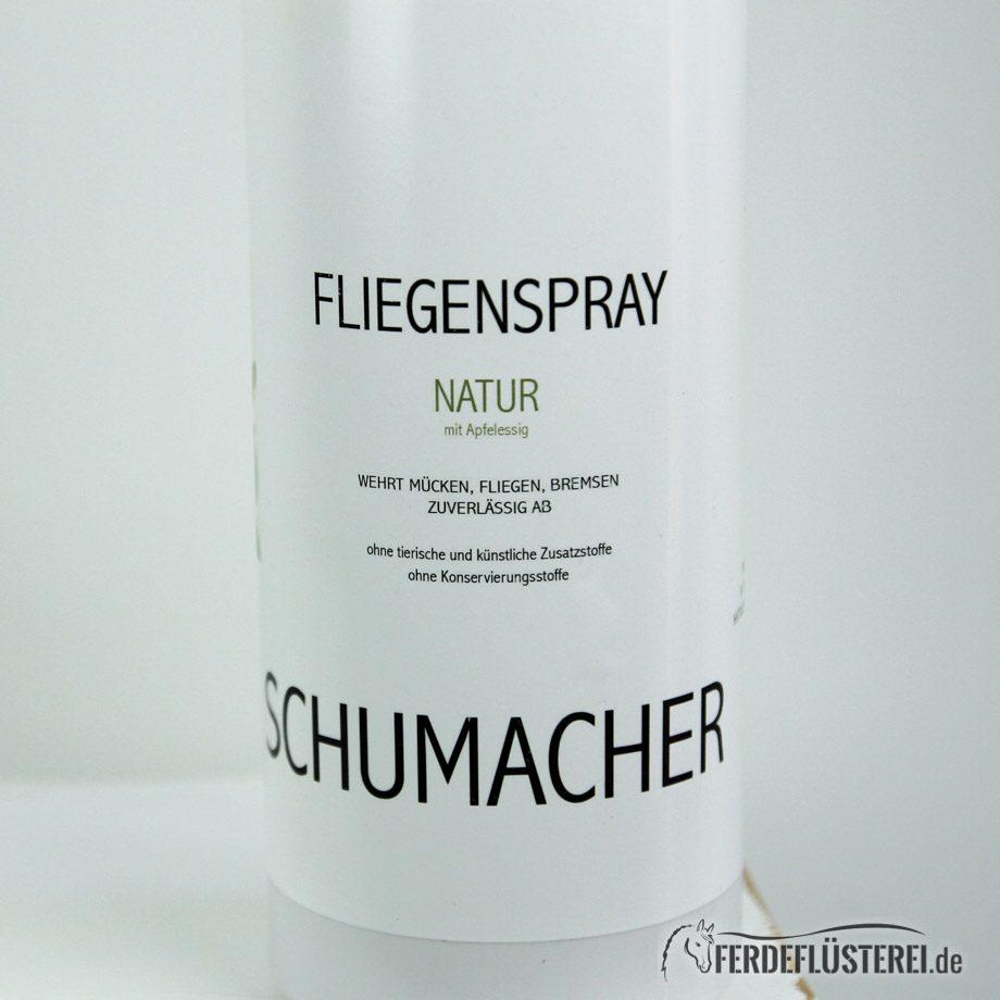 Schumacher vegane Pflege Pferd Fliegenspray Etikett