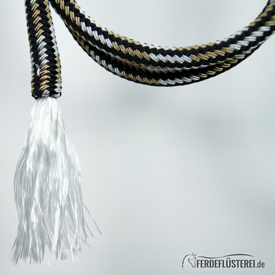Brockamp Rope Puschel schwarz-silber-beige