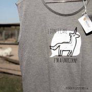 Neonow Einhorn Shirt Modal Fashion Pferde grau