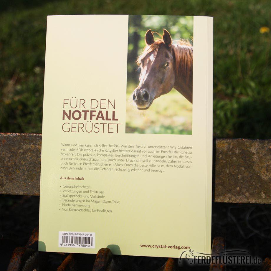 Crystal Verlag Buch Wissen Pferde Erste Hilfe Pferd Rücksseite