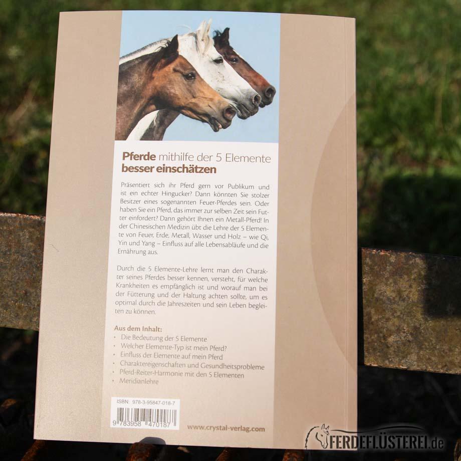 Crystal Verlag Buch Wissen Pferde 5 Elemente Rückseite