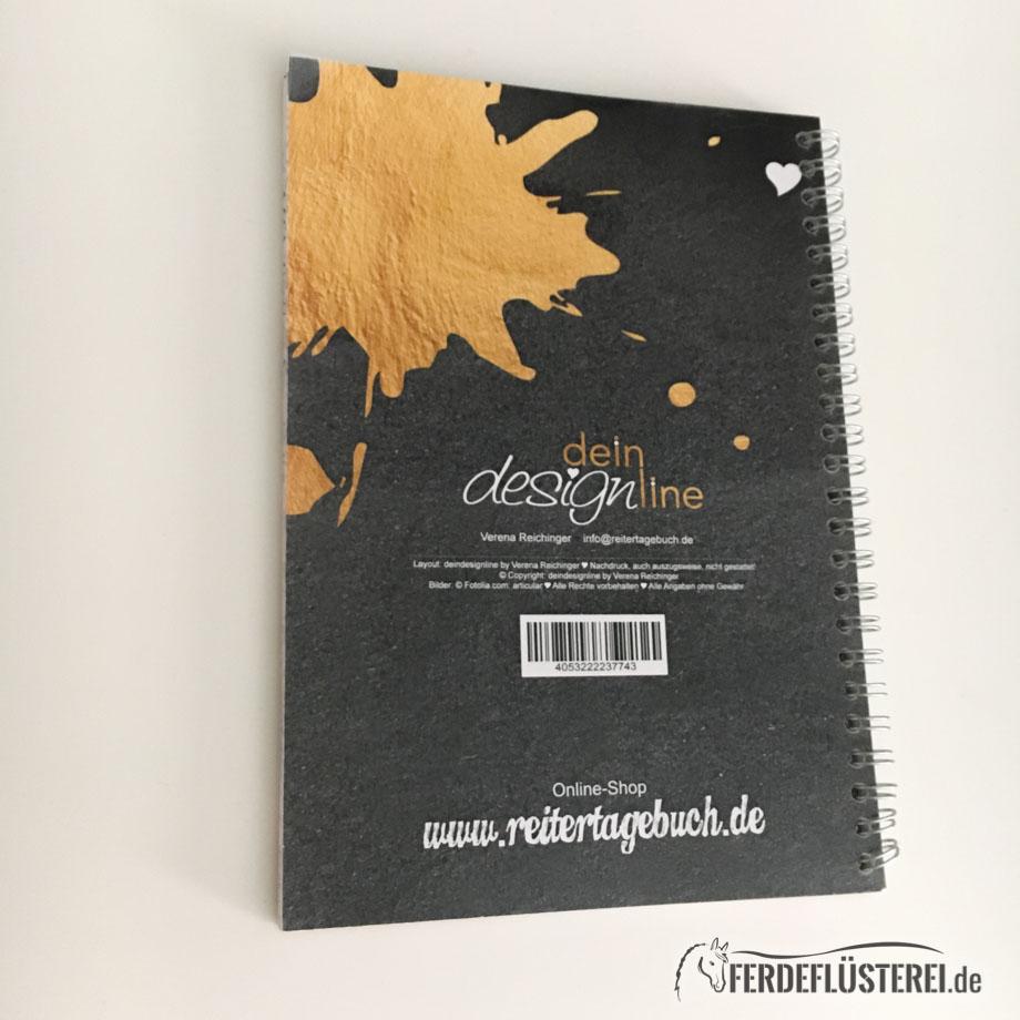 Reitertagebuch Edel Rückseite