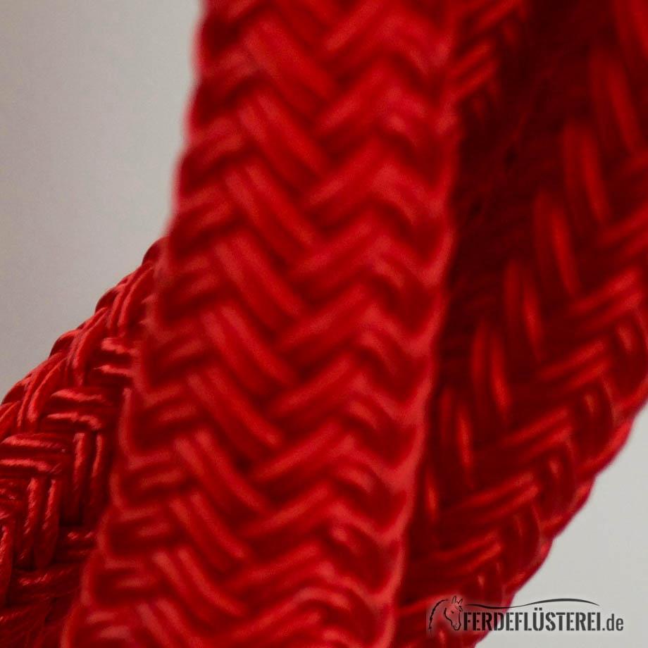 Brockamp Rope 3.70  Öse und Lederklatsche nah Rot