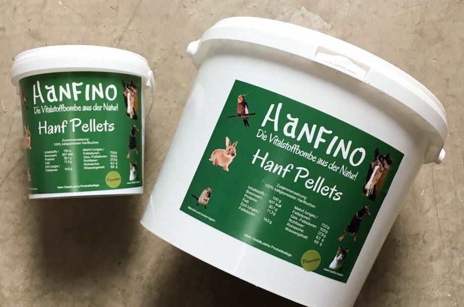 Hanfino Hanfprodukte Pferdehanf Hanfpellets verschiedene Größen