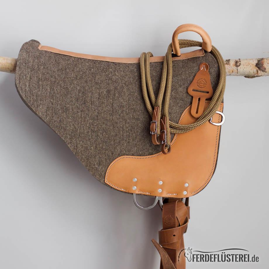 Polyreins Horsegear Cognacbraun-beige Sattel Inspiration