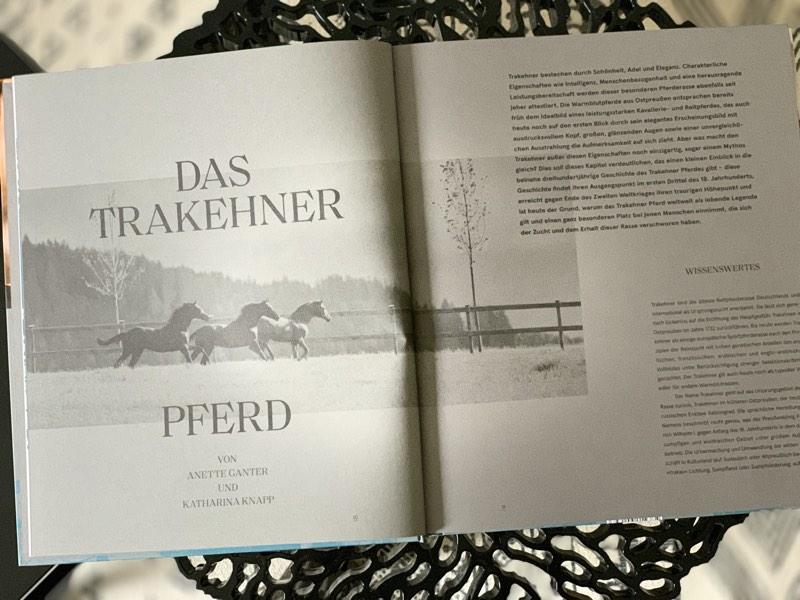 """Aus dem Buch """"Trakehner Gestüt Murtal"""""""