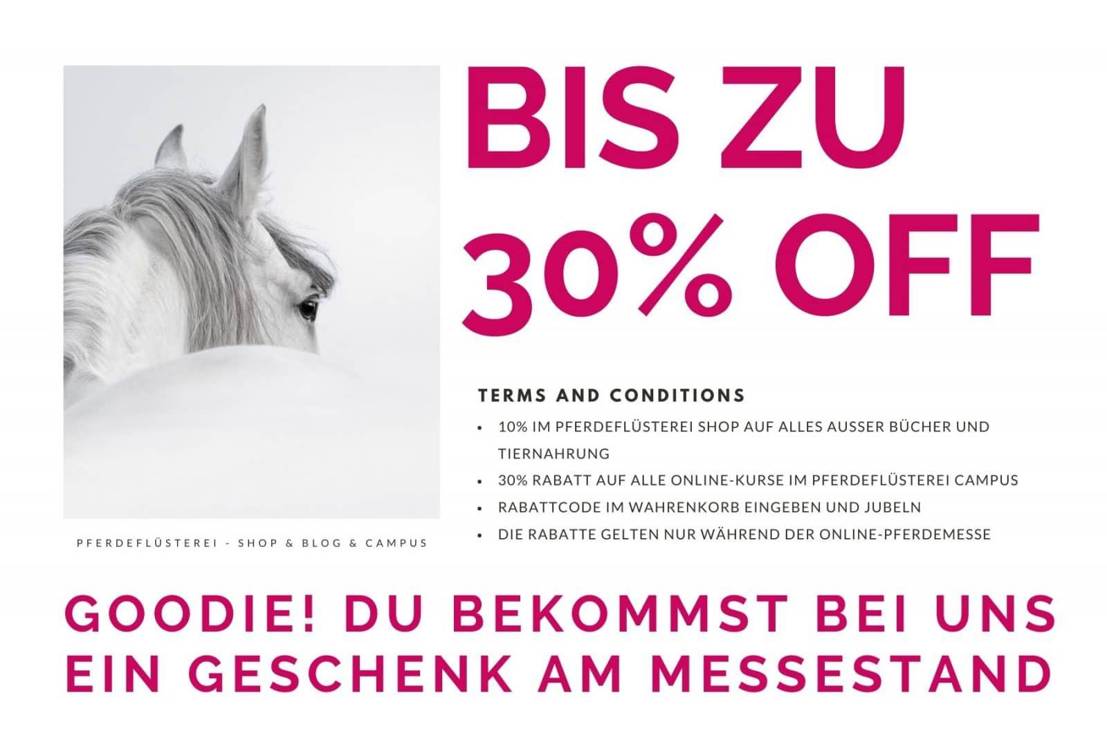 Onlinepferdemesse Rabattaktion Pferdeflüsterei