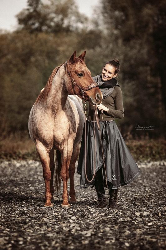 Foto: Carolin Burgert - Reitkilt: Dausendschön - Zaumzeug: Pferdeflüsterei Balancio