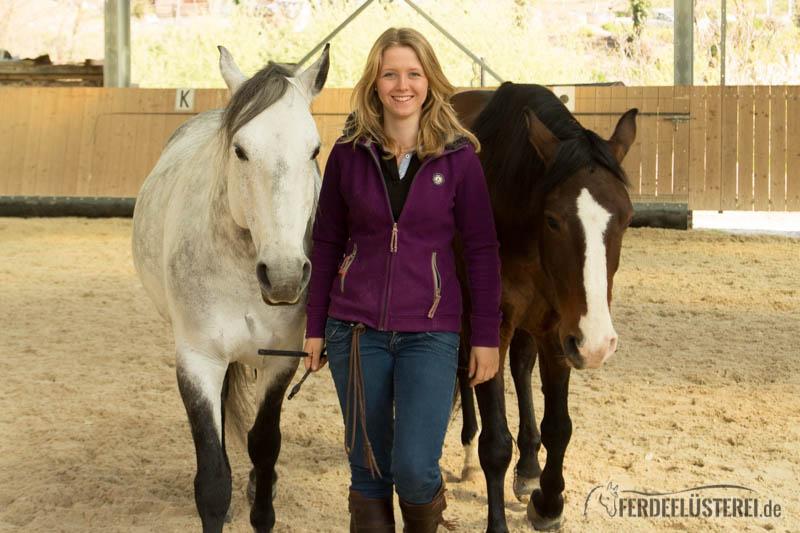 Hero mit zwei Pferden links und rechts