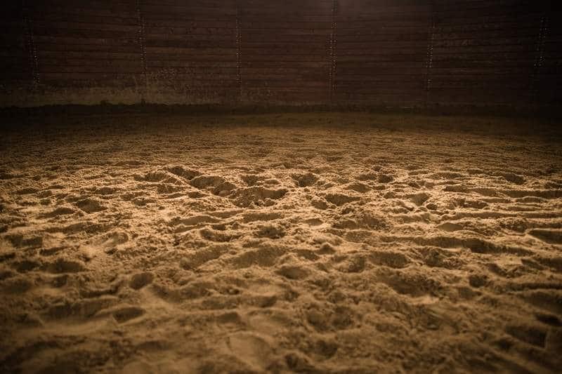 Bild eines Reithallenbodens